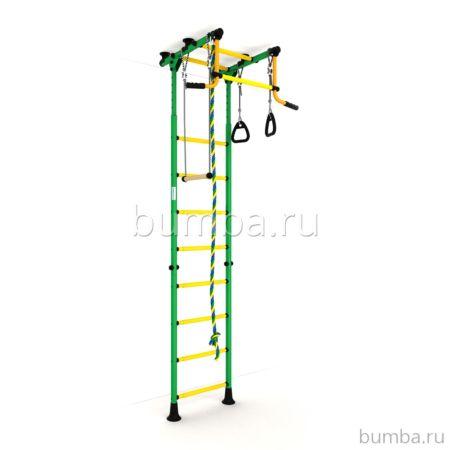 Детский спортивный комплекс Карусель Комета-2 Эконом (зелено-желтые)