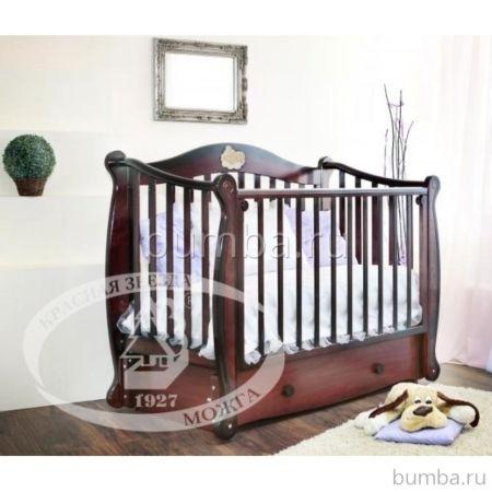 Кроватка детская Можга Валерия С 749 (колесо) (шоколад)