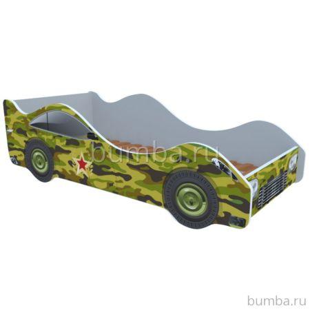 Кровать-машина Кроватка5 Машинки (Камуфляж)