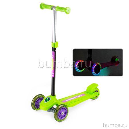 Самокат Small Rider Cosmic Zoo Galaxy One со светящимися колесами (зеленый)