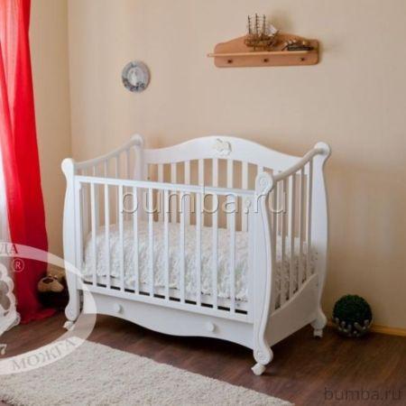 Кроватка детская Можга Валерия С 749 (колесо) (белый)