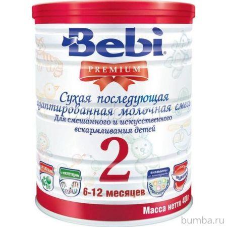 Сухая молочная смесь Bebi Premium 2 в банке (6-12 мес.) 400 г