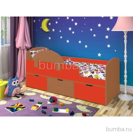 Кровать детская Ярофф Малыш Мини (вишня оксфорд/красный)