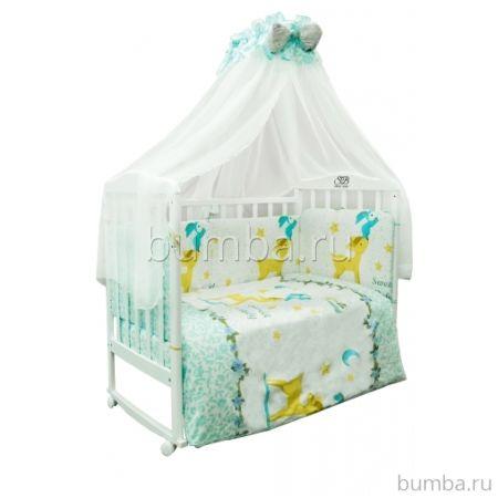 Комплект постельного белья Sweet Baby Renna Blu (7 предметов, сатин)