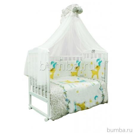 Комплект постельного белья Sweet Baby Renna Rosa (7 предметов, сатин)