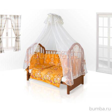 Комплект постельного белья Eco Line Fabric Забавные Зверята 140х70см (6 предметов) микс 2