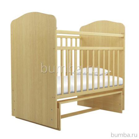 Кроватка детская Агат Золушка-10 (поперечный маятник) (Светлый)