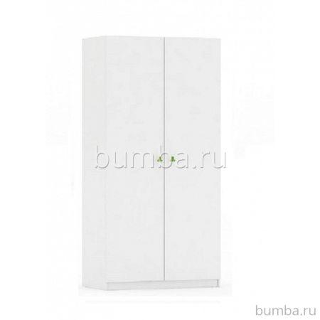 Шкаф двухсекционный Polini Simple (лайм-белый)