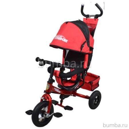 """Трехколесный велосипед Navigator Lexus с надувными колесами 10"""" и 8"""" (черно-красный)"""