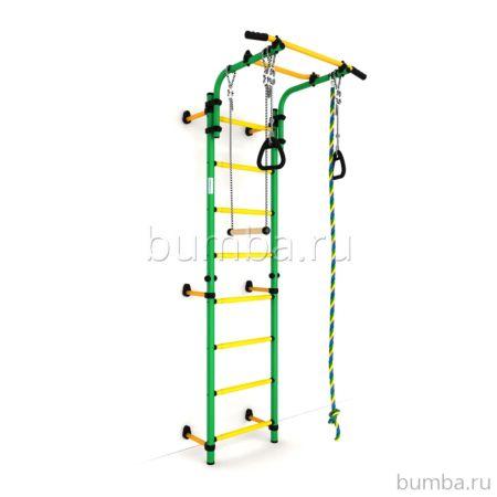 Детский спортивный комплекс Карусель Комета next 1 Эконом (зелено-желтый)