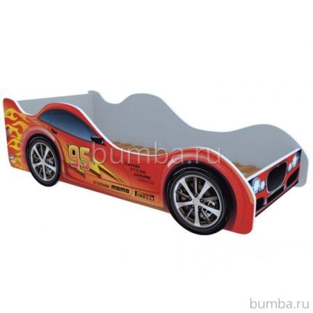 Кровать-машина Кроватка5 Машинки (Молния красная)