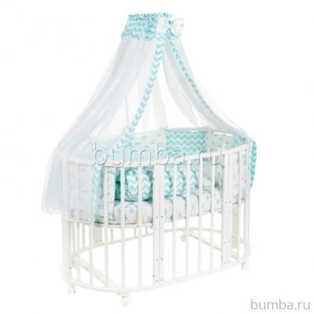 Комплект постельного белья Sweet Baby Fata Turchese (10 предметов, бязь)