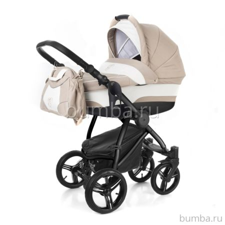 Коляска 2 в 1 Esspero Newborn Lux Black Khakki Lux