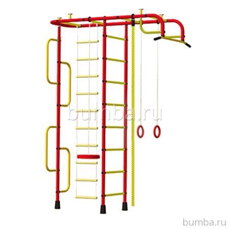 Детский спортивный комплекс Пионер 3 (красно-желтый)