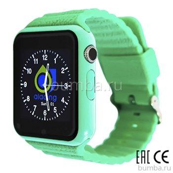 Детские часы с GPS-трекером SmartBabyWatch X10 (бирюзовые)