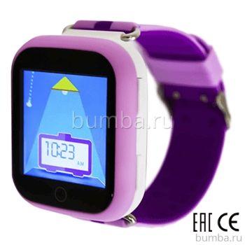 Детские часы с GPS-трекером SmartBabyWatch Q90 (фиолетовые)