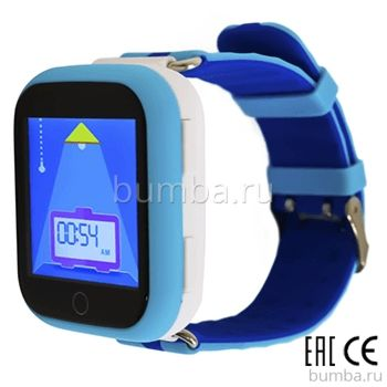 Детские часы с GPS-трекером SmartBabyWatch Q90 (голубые)