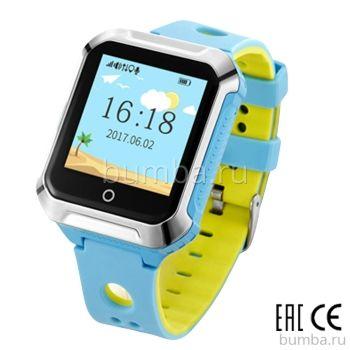 Детские часы с GPS-трекером SmartBabyWatch W10 (голубой)