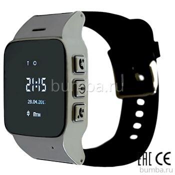 Часы с GPS-трекером SmartBabyWatch D99 (серебряные)