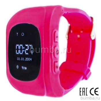 Детские часы с GPS-трекером SmartBabyWatch Q50 (розовые)
