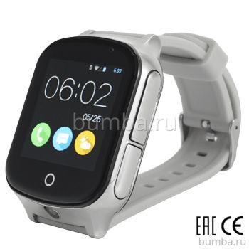 Детские часы с GPS-трекером SmartBabyWatch T100 (серебряные)