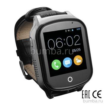 Детские часы с GPS-трекером SmartBabyWatch T100 (черные)