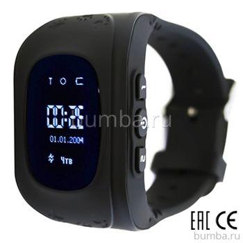 Детские часы с GPS-трекером SmartBabyWatch Q50 (черные)