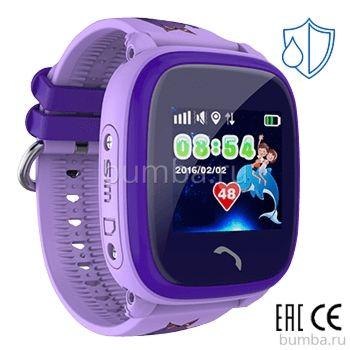 Детские часы с GPS-трекером SmartBabyWatch W9 (фиолетовые)