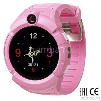 Детские часы с GPS-трекером SmartBabyWatch I8 (розовые)