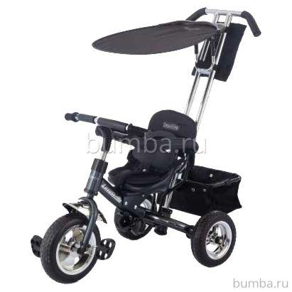 """Трехколесный велосипед Jetem Lexus Trike Next Generation с ПВХ-колесами 10"""" и 8"""" (черный)"""