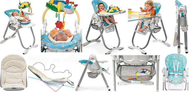 трансформация стульчика для кормления от рождения